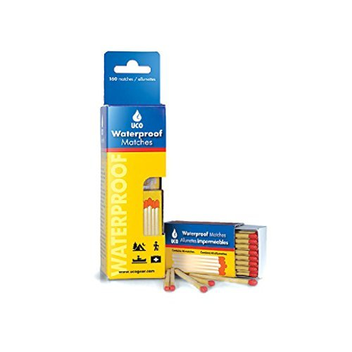 UCO Waterproof Safety Matches with Water-Resistant Box and Striker (Pack of 4)