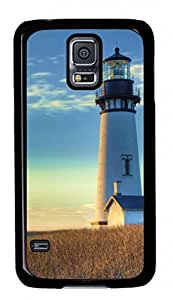 Off The Coast of The Lighthouse Samsung Galaxy S5 Black Sides Hard Shell Case by Cristinay