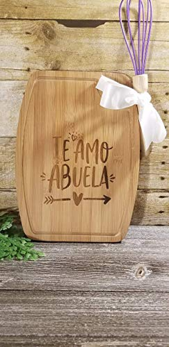Te Amo Abuela Cutting Board from Splatacular Designs and Crafts