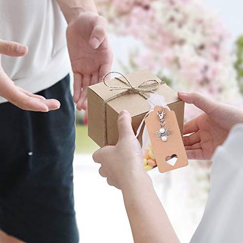VGOODALL Gastgeschenke Taufe, 32 Stück Gastgeschenke Hochzeit Schutzengel + Organza Beutel + Kraftpapier Anhänger für Kommunion Konfirmation Geschenk Party Mitbringsel