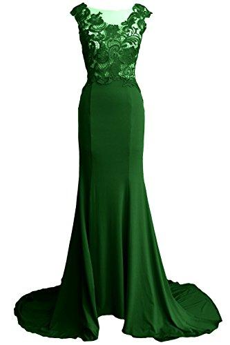 2017 Dunkelgrun Party Gown Women Evening Lace Mermaid Dress Prom Jersey Formal MACloth Long qw6XpfRH