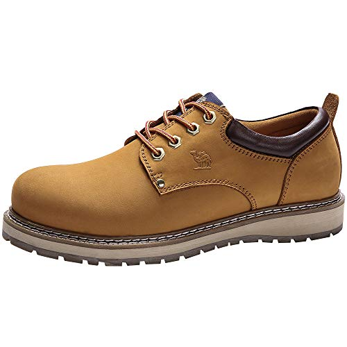 CAMEL CROWN Men's Work Boots 2018 Cowhide Leather Ankle Martin Boots Fashion Casual Soft Toe Men's Shoes by CAMEL CROWN (Image #1)