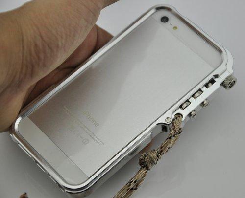 R-JUST Metall Aluminium Bumper Case für Iphone 5/5s, silberfarben