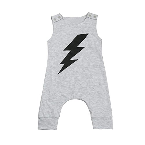 GBSELL Newborn Infant Baby Boy Girl Summer Clothes Flash Sleeveless Jumpsuit Romper Outfits (Flash, 0-6 Month) ()
