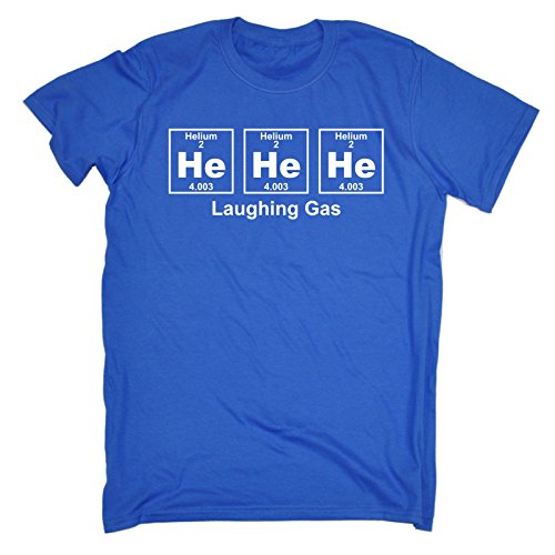 Laughing T-shirt Man - 123t Men's He He He Laghing Gas Periodic Design Science T Shirt Laugh Smile Happy Teacher School Helium Table Sarcasm Funny Joke Birthday Gift Christmas Present T-SHIRT