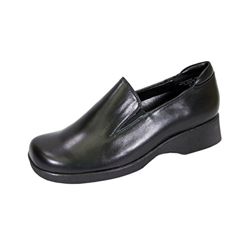 24 Hour Comfort  Bristol (1878) Women Extra Wide Width Leather Shoes Black 10.5 by 24 Hour Comfort