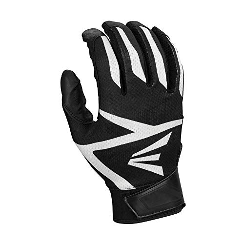 (Easton HS3 Batting Gloves, Black, Large)