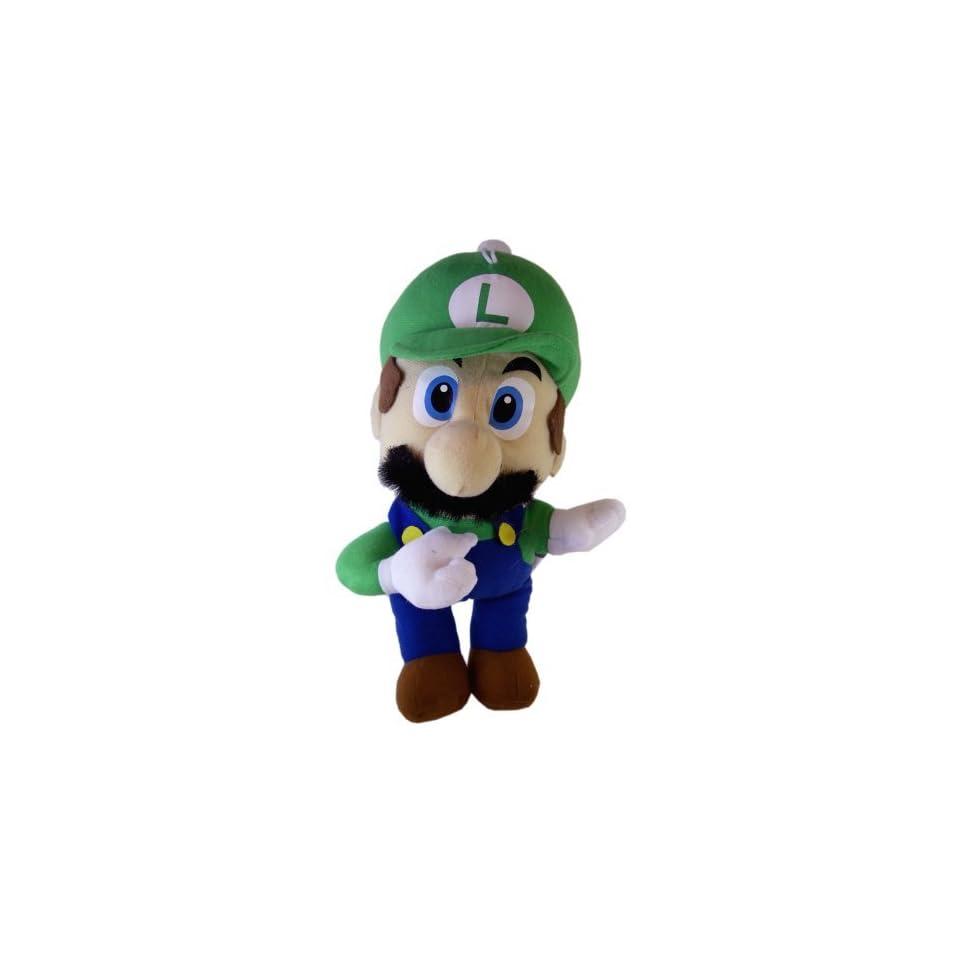 Mario Bros Luigi Stuffed Toy   Nintendo Super Mario Bros Luigi Plush Doll (12 In)