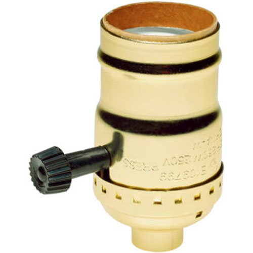 Legrand - Pass & Seymour 7070PG Medium Lamp Holder Turn Knob Two Circuit Three Terminals