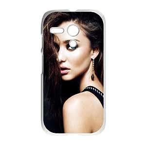 Motorola G Cell Phone Case White Miranda Kerr Portrait LSO7780401