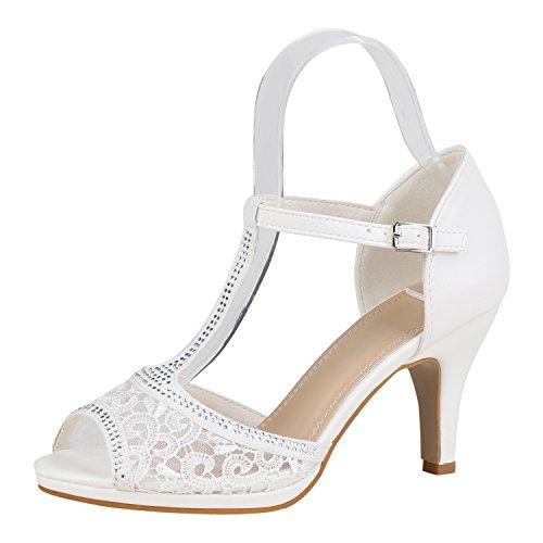napoli-fashion - Tira de tobillo Mujer Weiss Spitze
