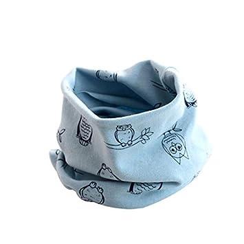Wicemoon Kinder Winter Schal Halstuch Blau Cartoon Eule Muster ...