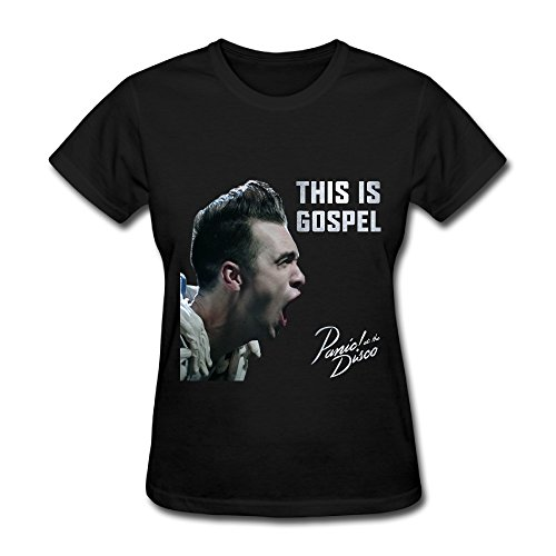 We Love Rock And Pop Band Panic! At The Disco Black Womens T Shirt (Panic At The Disco Pretty Odd T Shirt)