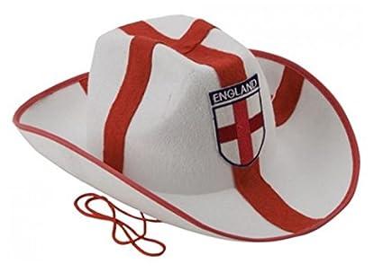 PMS bianco feltro Stetson cappello con ricamo distintivo - rosso ... f7330fb4e075