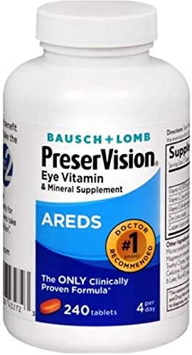 Bausch & Lomb PreserVision Areds, 240 Tablets (Pack of 2)