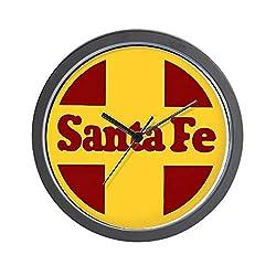 CafePress Santa Fe Railway Unique Decorative 10 Wall Clock