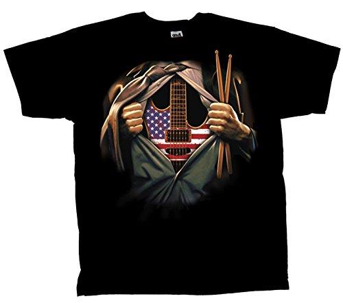 Drum Guitar T shirt Music Musician product image