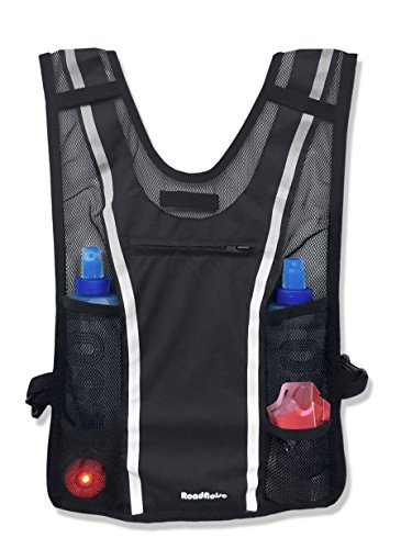 Roadnoise Long Haul Vest Running and Cycling Vest with speakers. Safer running and riding with music. (Black, X-Small/Small) by Roadnoise (Image #3)