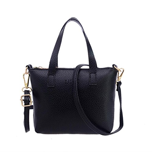 on Sale (Handbag On Sale,Clearance!AgrinTol Women Fashion Handbag Shoulder Bag Tote Ladies Purse (Black))
