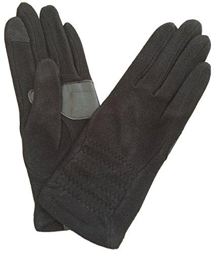 Echo Touch Women's Ruched Warmer Gloves (Medium, Black) (Echo Touch Gloves)