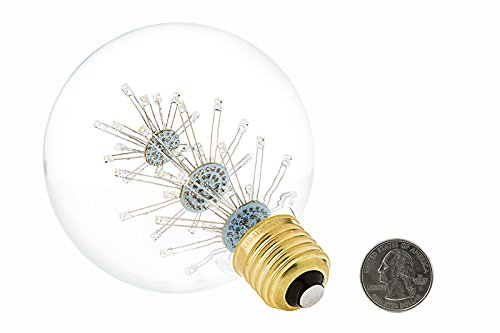 LED Fireworks Bulb - G30 Decorative Fireworks LED Bulb - 15 Watt Equivalent - Dimmable - 125 Lumens - Warm White - - Amazon.com