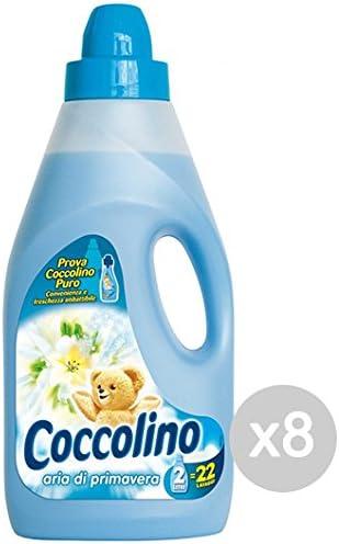 Set 8 COCCOLINO Suavizante 2 Lt Blue Spring Jabón Lavadora Y ...