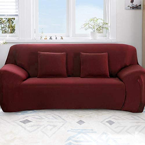 Anti-Mite /& Anti-wrinkle Removable Red Wine 1 Seater :90-140cm Cafopgrill All-Inclusive Sofa Cover 1 2 3 4 Seater Slip Cover Sofa Washable