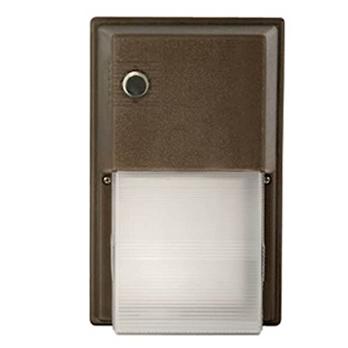 Hubbell 31412 - 17.7 watt 120/277 volt Bronze 12 LED Wall Pack without Photocontrol (NRG-356L-5K-U) by Hubbell