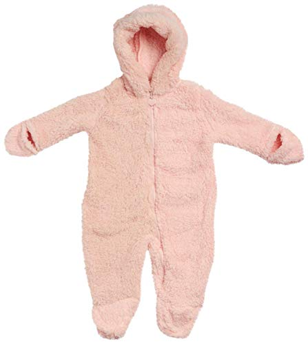 Wippette Baby Girls' Sherpa Pram Snowsuit, Size 3-6 Months, Blush'