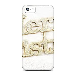 Fashion Protective A Merry Christmas Greeting Cases Covers For Iphone 5c