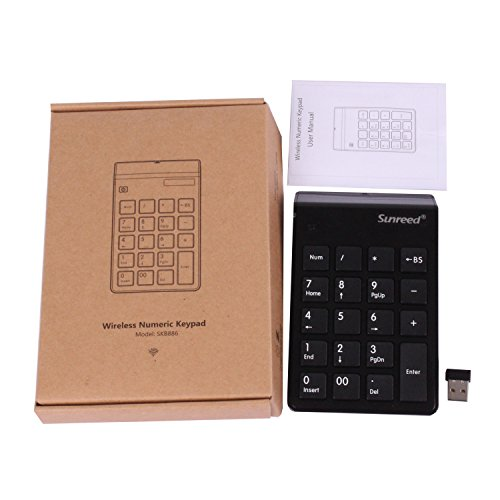 Sunreed Numeric Keypad, 19 Keys Wireless USB Number Pad Keyboard with 2.4G Mini USB Numeric Receiver for Laptop Desktop PC Notebook, with Power Switch, USB Receiver Can Stored by Sunreed (Image #6)