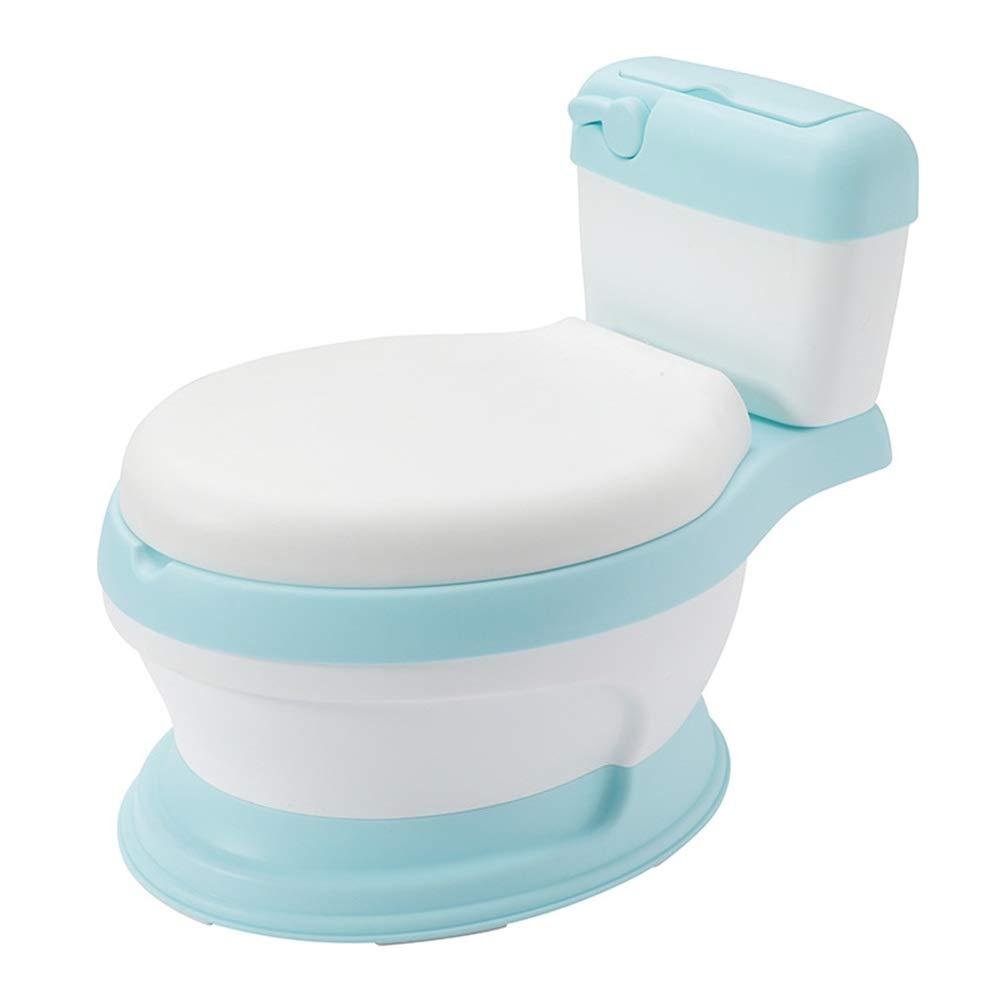 子供用トイレ 男の子と女の子のためのトイレの椅子楽しいトイレトレーニングシート - あなたの幼児のための安定した快適な(拡大サイズ:30 * 28 * 36 cm) 子供たちがトイレに行くように訓練する (色 : 青, サイズ : ワンサイズ) ワンサイズ 青 B07TXKDHFY