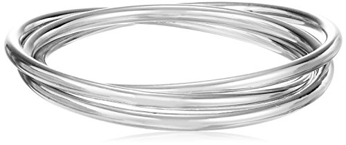 Kenneth Cole New York Bangle Bracelet - Kenneth Cole New York Meridian Ombre Interlinked Silver Bangle Bracelet