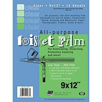 Grafix - Frisket Film - Sheet Pack 9
