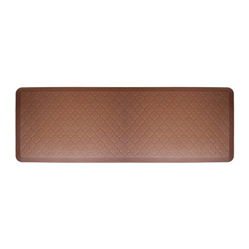WellnessMats Moire Brown Motif Mat, 72 x 24 Inch