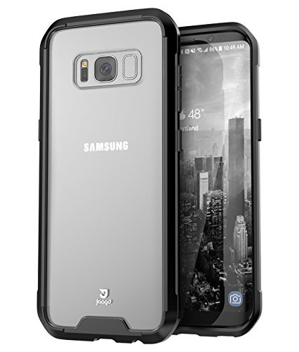Jaagd Galaxy S8 Plus Case, Hybrid Shock Modern Slim Non-slip Grip Cell Phone Cases for Samsung Galaxy S8 Plus (Black)