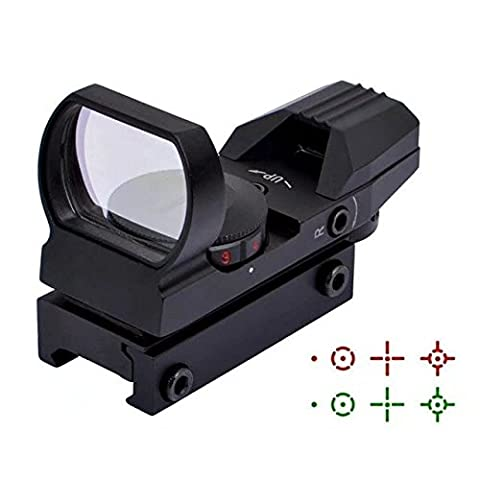 KingFurt Tactical Red and Green Reflex Sight with 4 Reticles (High Power Burning Laser Pointer)