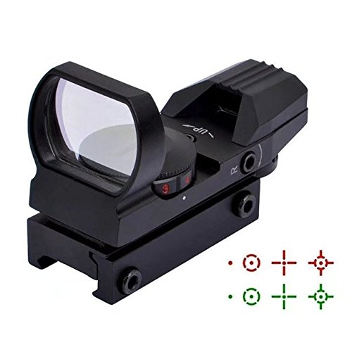 HonsCreat Tactical Red and Green Reflex Sight with 4 Reticles by HonsCreat