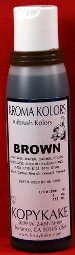 Brown Airbrush food coloring by Kroma Kolor