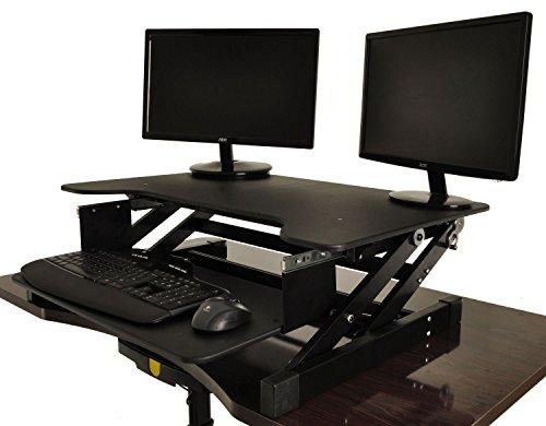 Desktop Tabletop Standing Desk Adjustable Height Sit To