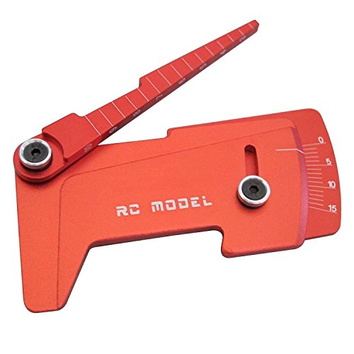 (Hobbypower CNC Aluminum Suspension Ride Height & Camber Gauge Tool Red for 1/10 RC Car)