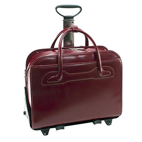 McKleinUSA Willowbrook 94986 Red Detachable-Wheeled Ladies' Briefcase