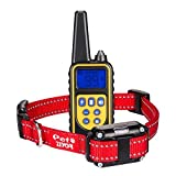 ZIYOR Dog Training Collar Shock Collar, 100% Waterproof and Rechargeable 850 yd Remote Dog Training Collar with Beep, Vibra and No Harm Shock Electric Collar for Small Medium Dogs