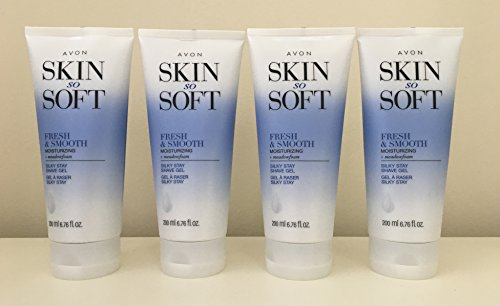 Skin So Soft Fresh & Smooth Moisturizing Silky Stay Shave Gel lot 4 pcs. (Gel Silky)