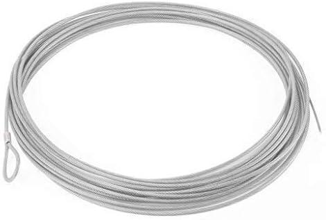 Cable para Tensar la Red de Tenis. De Acero Galvanizado, Trenzado y Plastificado.- 14 Metros.