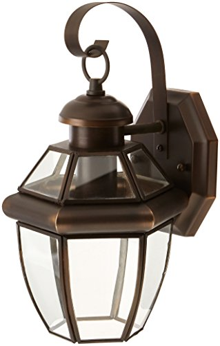Forte Lighting 1101-01 Outdoor Wall Sconce from the Exterior Lighting Collection, Royal Bronze