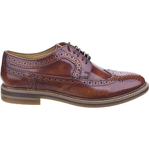 Base London zapato Hombre Cordones Cuero Hi Shine Navy Tan