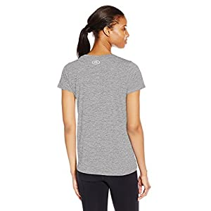 Under Armour Women's Tech Twist T-Shirt, Graphite/Metallic Silver, XX-Large