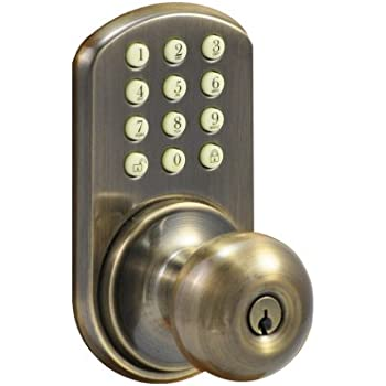 Morning Industry Hkk 01aq Keypad Knob Entry Antique Brass