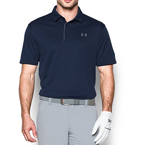 Under Armour Men's Tech Polo, Midnight Navy/Graphite, Large